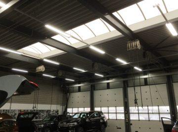 BMW martinistad werkplaatsverlichting